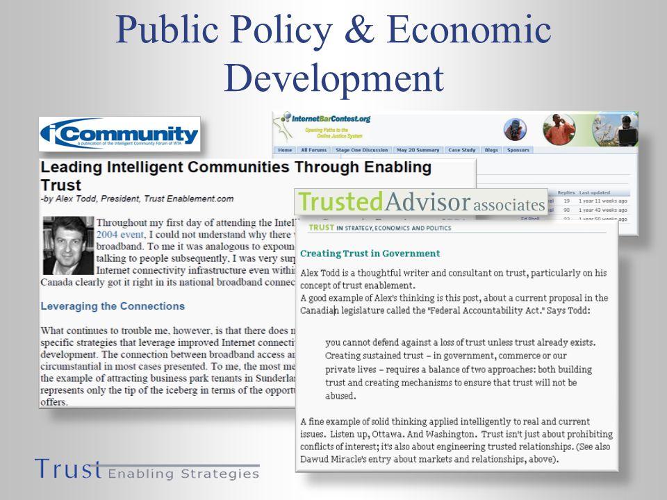 Public Policy & Economic Development