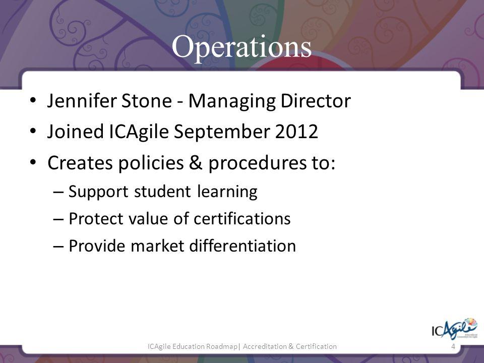 ICAgile Education Roadmap  Accreditation & Certification15