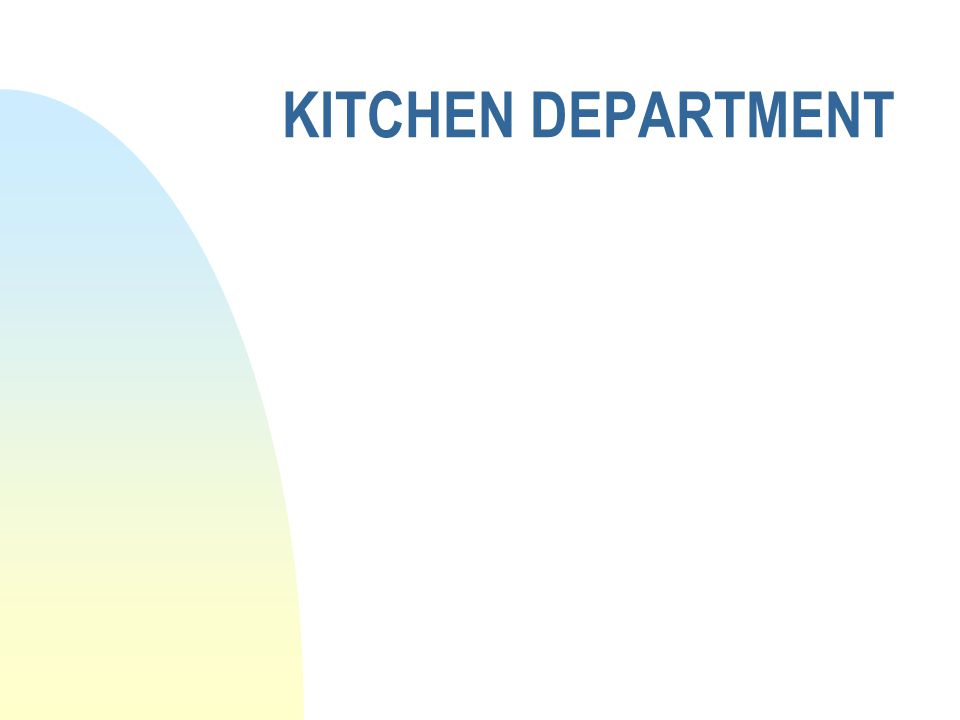 KITCHEN DEPARTMENT