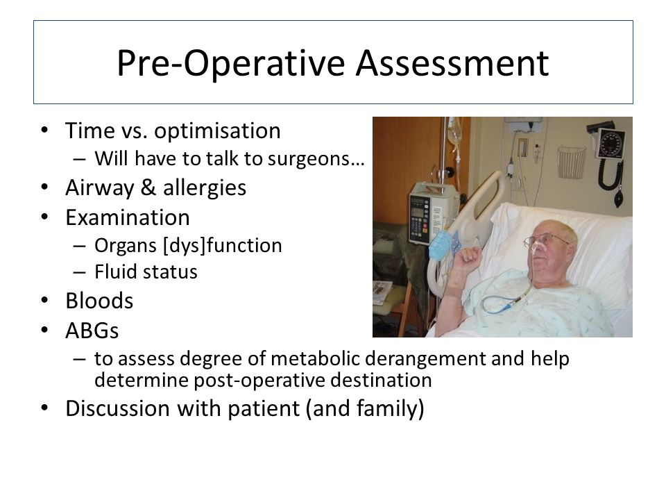 Pre-Operative Assessment Time vs.