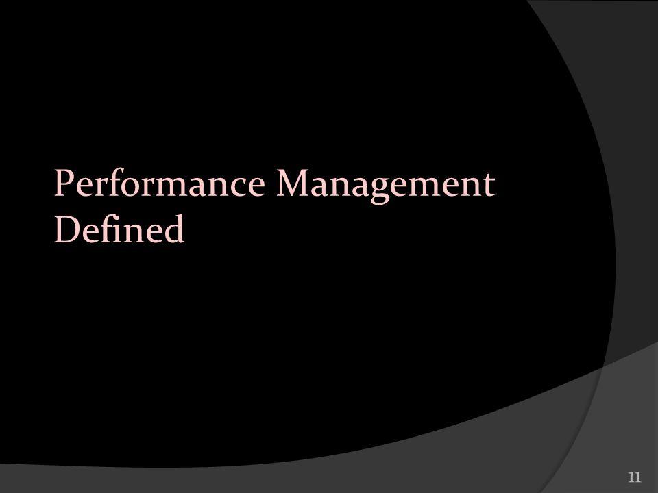 11 Performance Management Defined