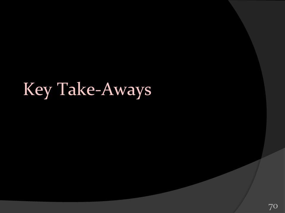 70 Key Take-Aways