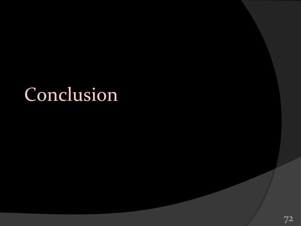 72 Conclusion
