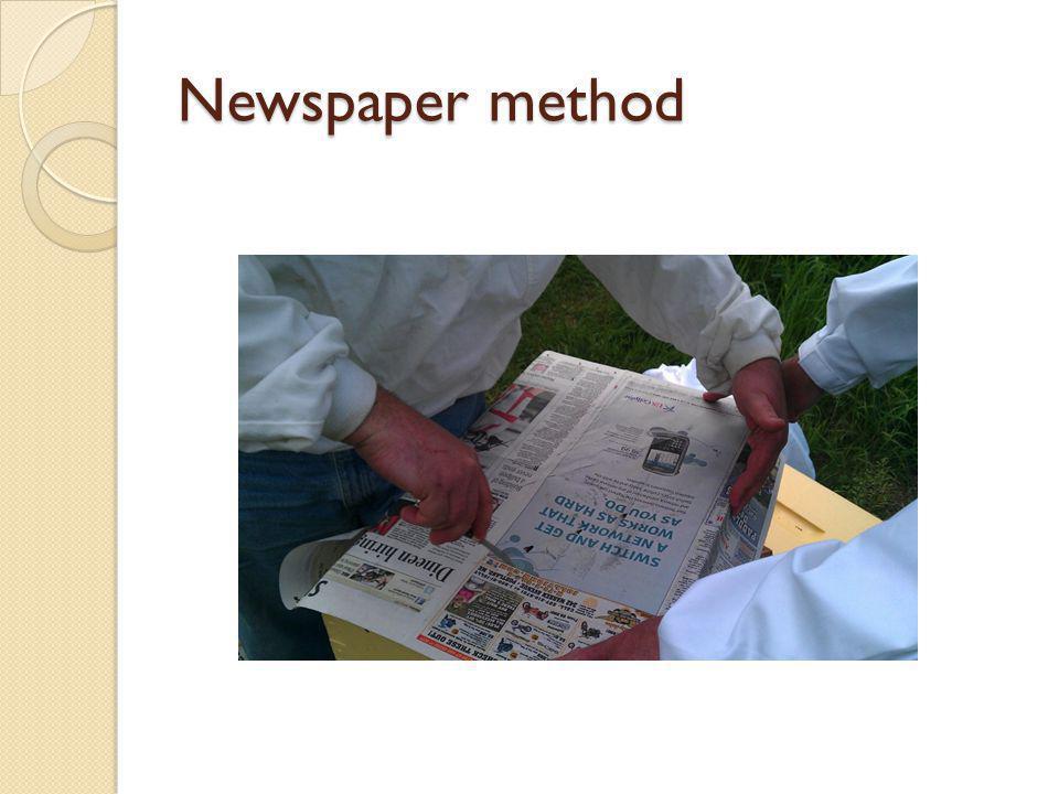 Newspaper method