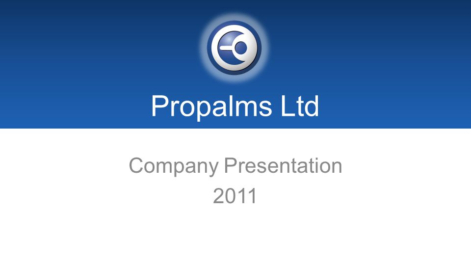 Propalms Ltd Company Presentation 2011