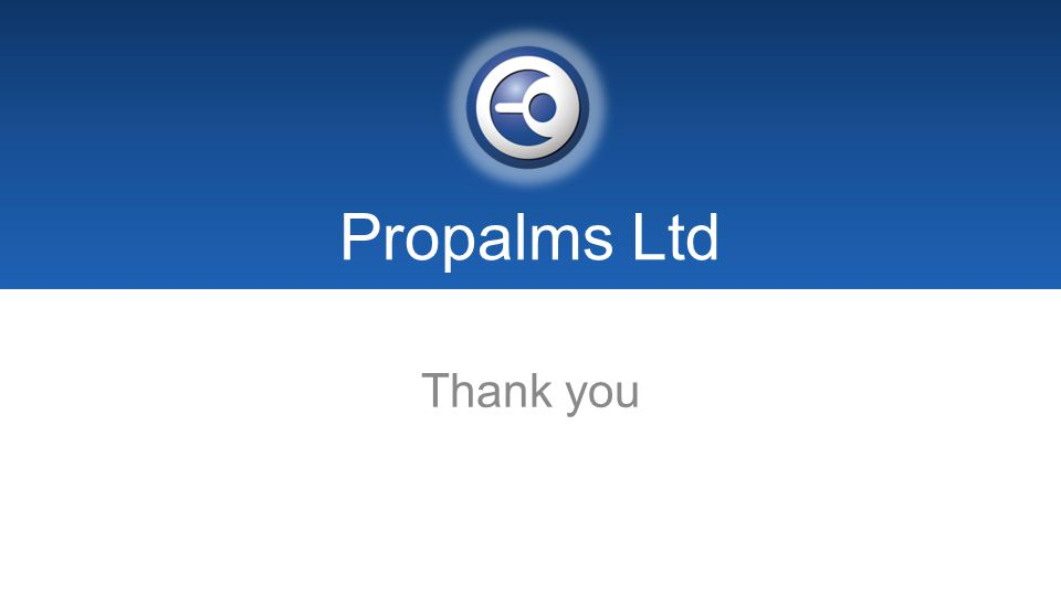 Propalms Ltd Thank you