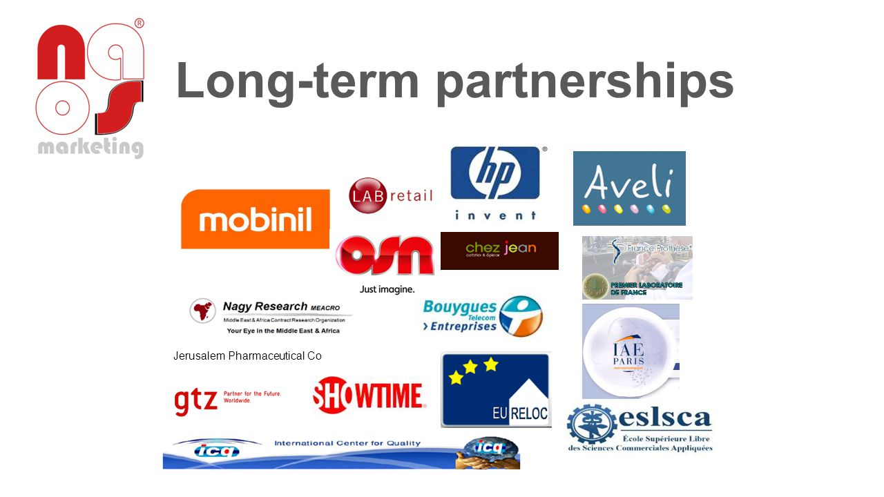 Long-term partnerships Jerusalem Pharmaceutical Co