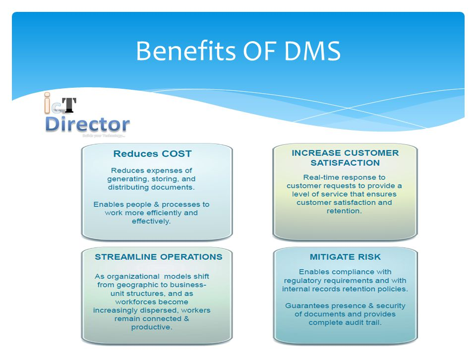 Benefits OF DMS