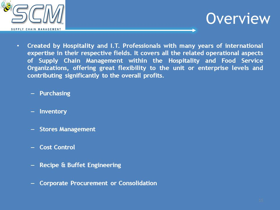 Overview Created by Hospitality and I.T.