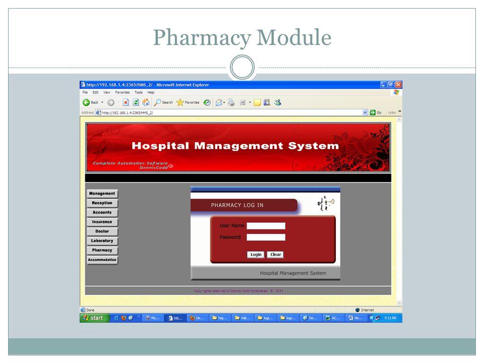 Pharmacy Module