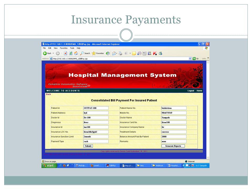 Insurance Payaments