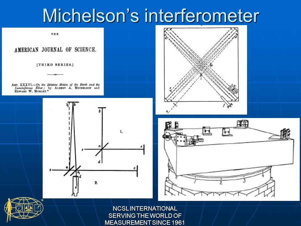 Michelsons interferometer NCSL INTERNATIONAL SERVING THE WORLD OF MEASUREMENT SINCE 1961