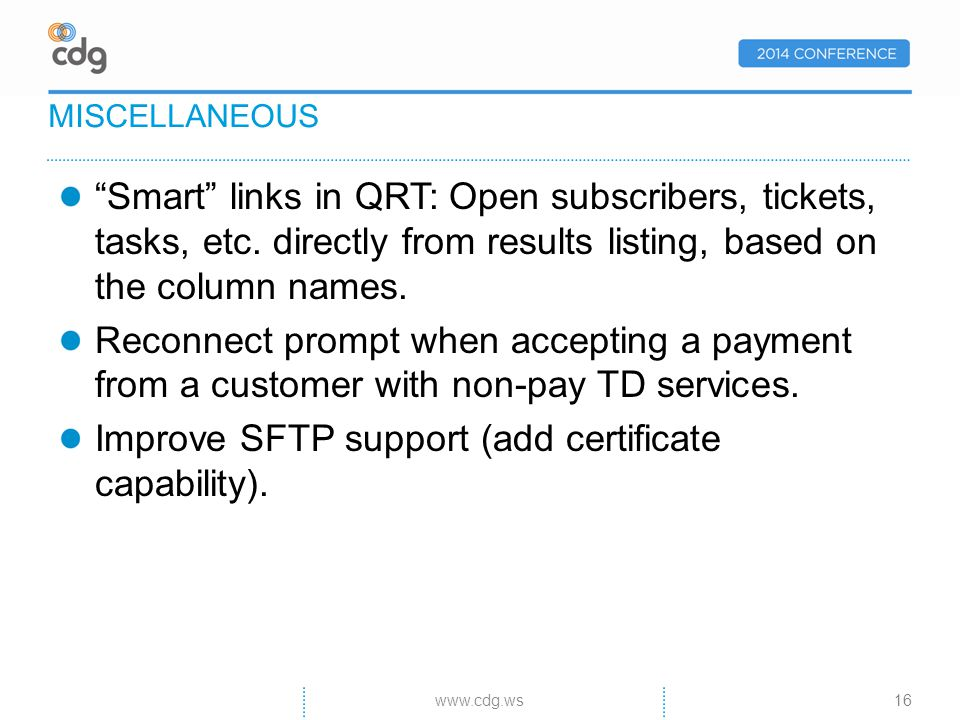 Smart links in QRT: Open subscribers, tickets, tasks, etc.