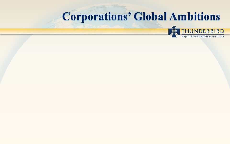 Corporations Global Ambitions