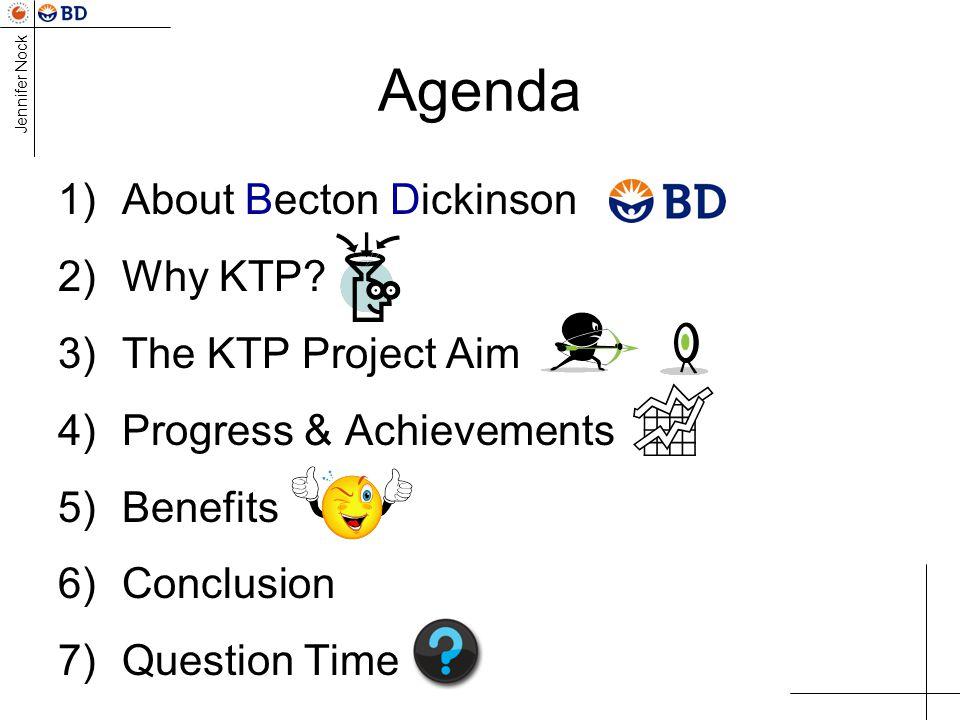 Jennifer Nock Agenda 1)About Becton Dickinson 2)Why KTP.