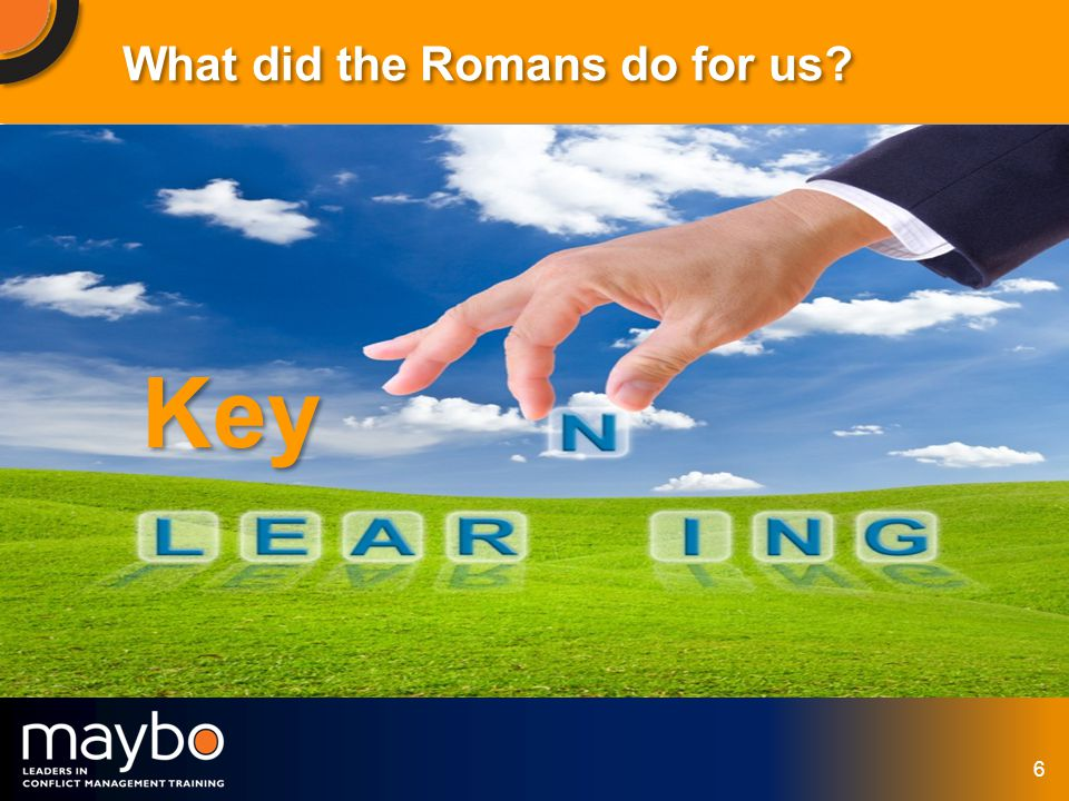 © Maybo Ltd 2006 6 What did the Romans do for us Key