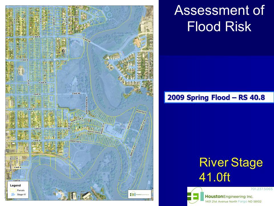 River Stage 41.0ft Assessment of Flood Risk 2009 Spring Flood – RS 40.8