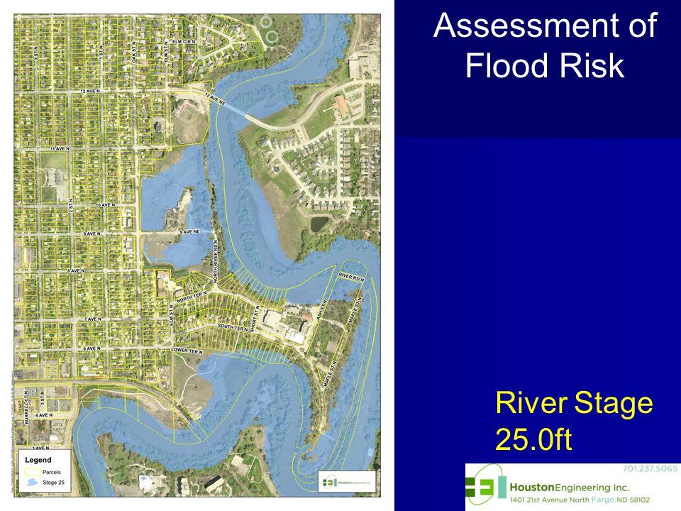 Assessment of Flood Risk River Stage 25.0ft