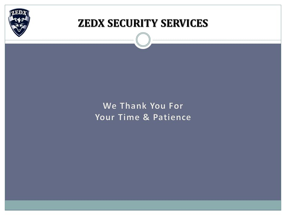 ZEDX SECURITY SERVICES