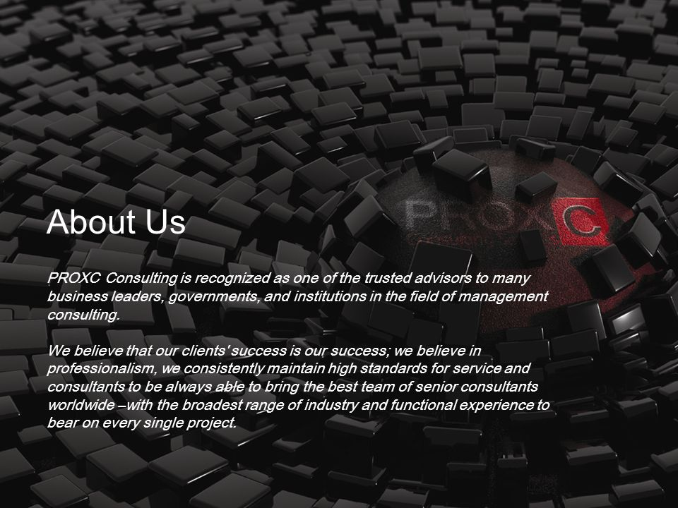 Our vision is being the leading business consulting firm in EMEA region.