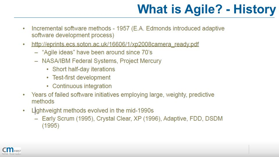 What is Agile - History