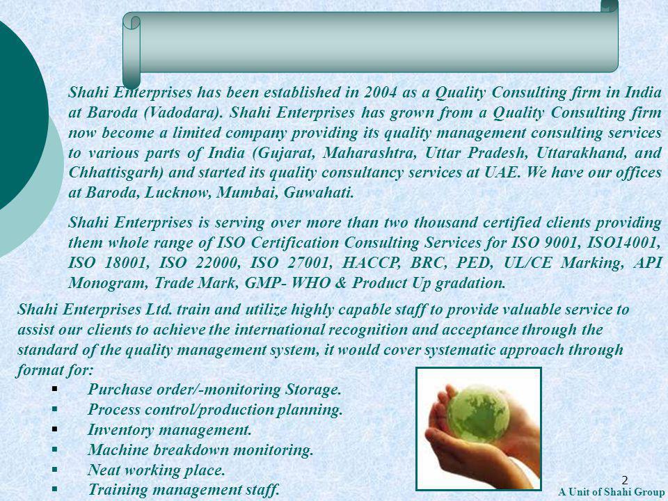 23 A Unit of Shahi Group 4.4 Implementation Requirements Establish an internal OH&S communication procedure.