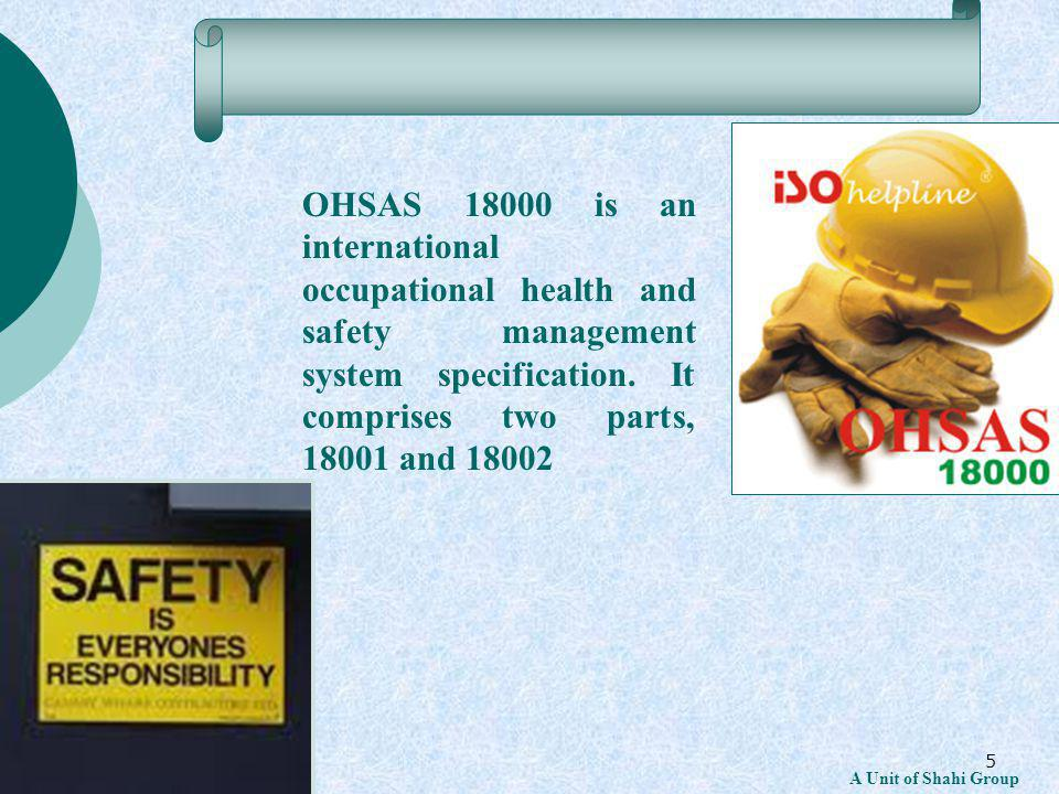 36 A Unit of Shahi Group 4.5 Checking Requirements Establish an internal OHSMS audit program.