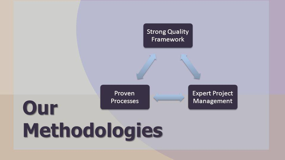 Strong Quality Framework Expert Project Management Proven Processes Our Methodologies