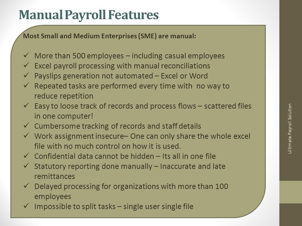Ultimate Payroll Solution More Payslip…..