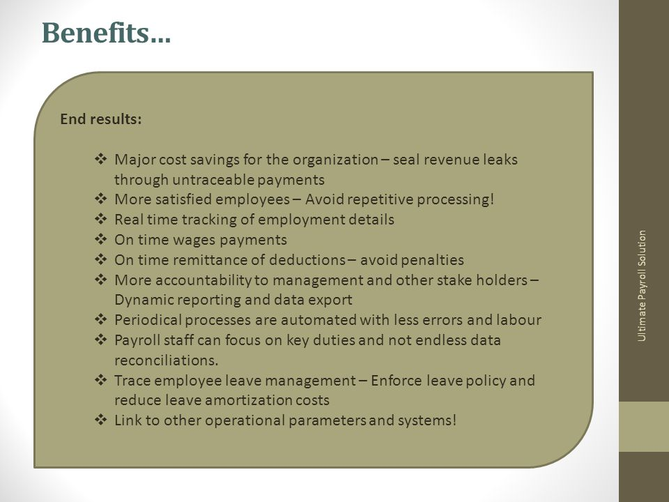 Ultimate Payroll Solution