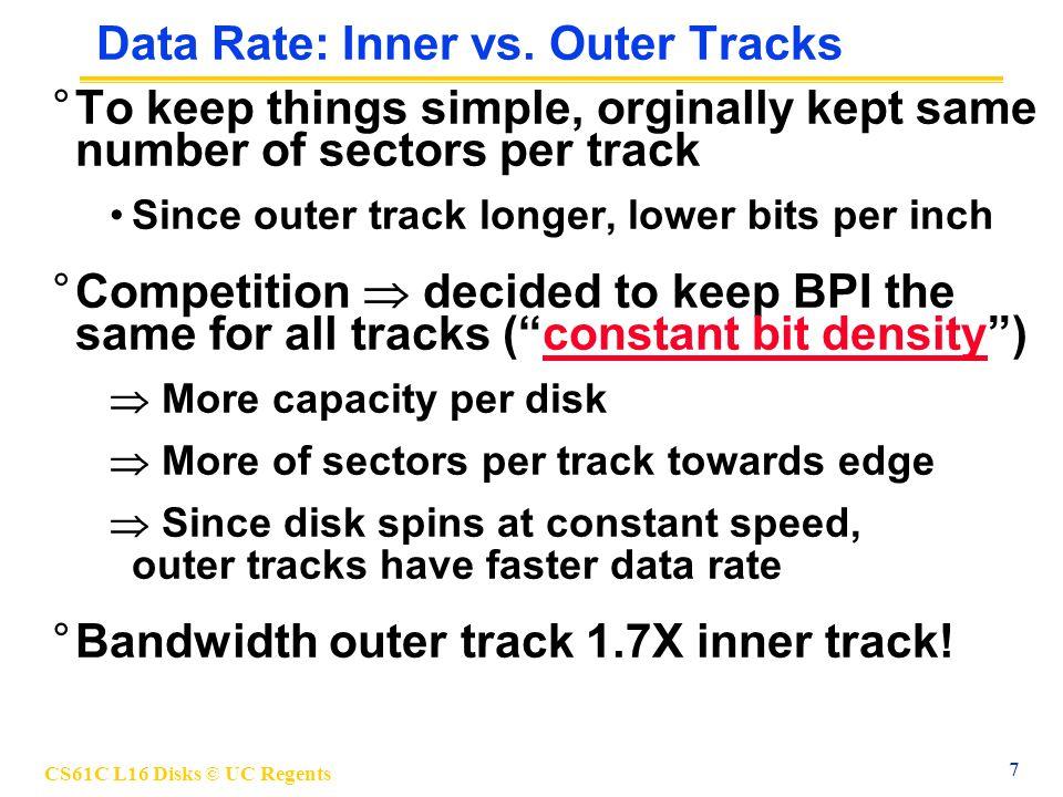 CS61C L16 Disks © UC Regents 18 Why Networks.