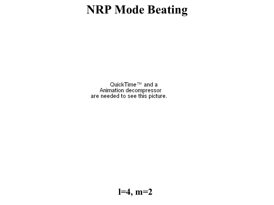 l=4, m=2 NRP Mode Beating