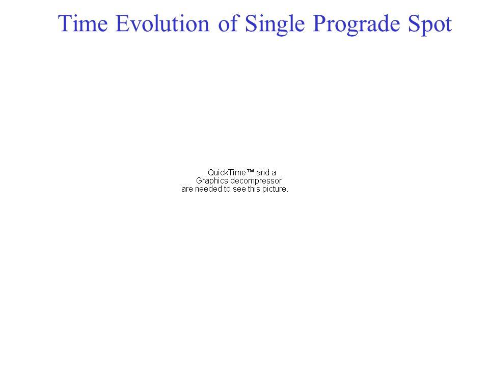Time Evolution of Single Prograde Spot