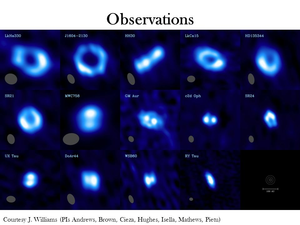 Observations Courtesy J. Williams (PIs Andrews, Brown, Cieza, Hughes, Isella, Mathews, Pietu)