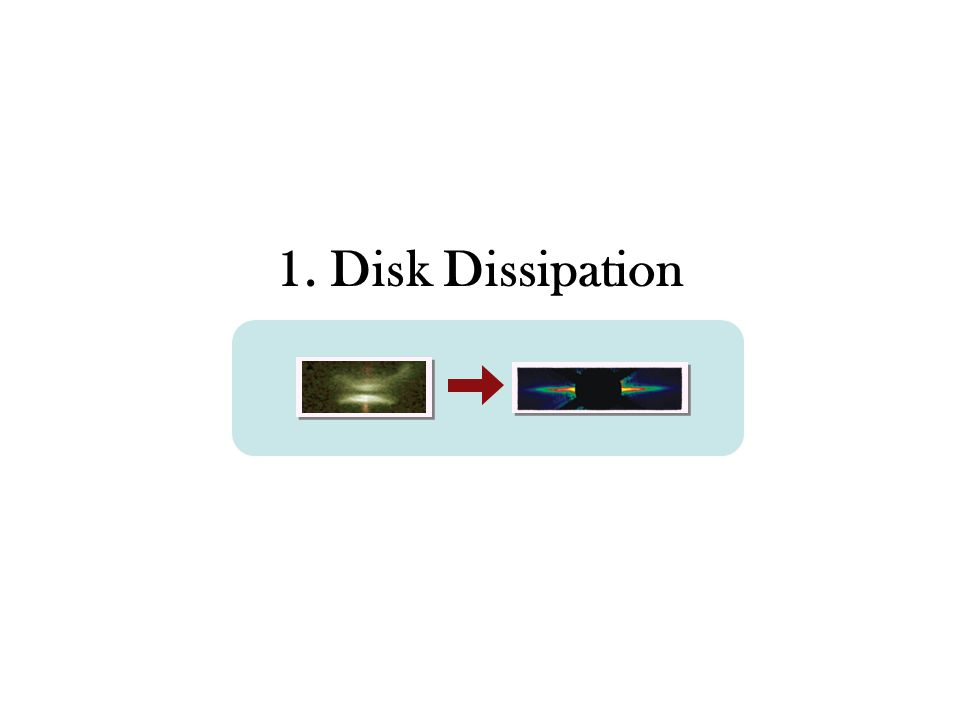 1. Disk Dissipation