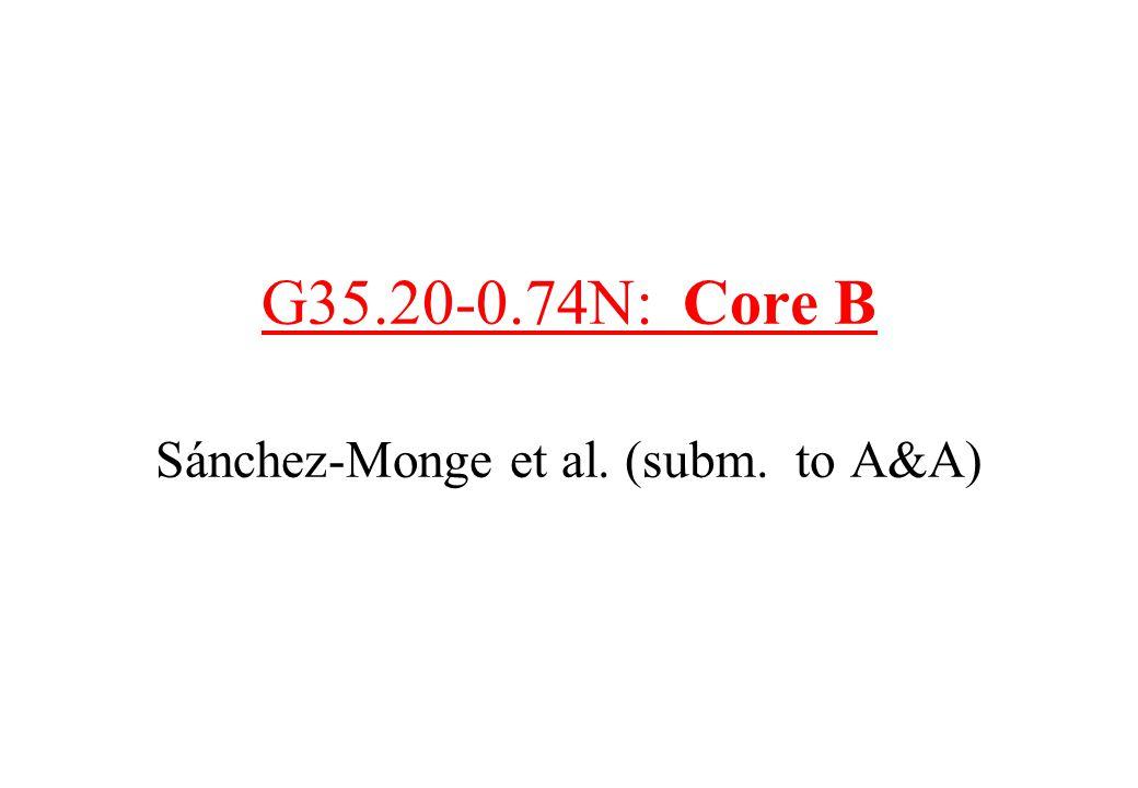 G35.20-0.74N: Core B Sánchez-Monge et al. (subm. to A&A)