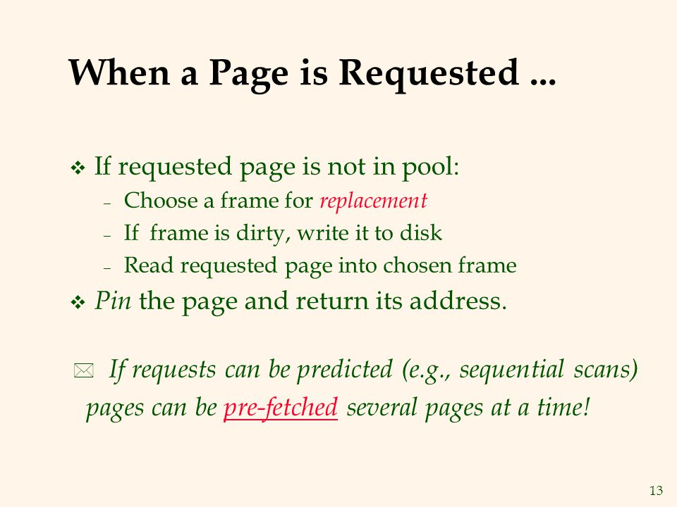 13 When a Page is Requested...