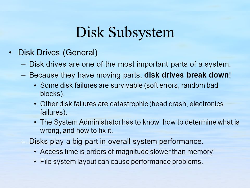 Disk Subsystems