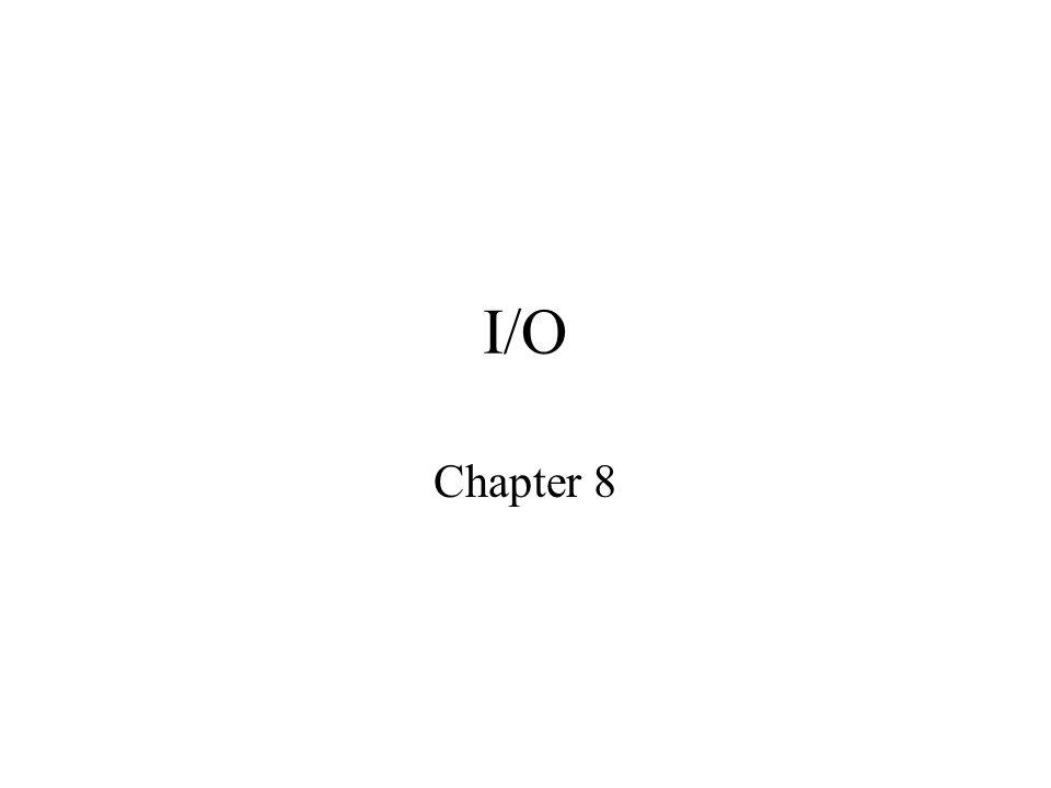 I/O Chapter 8
