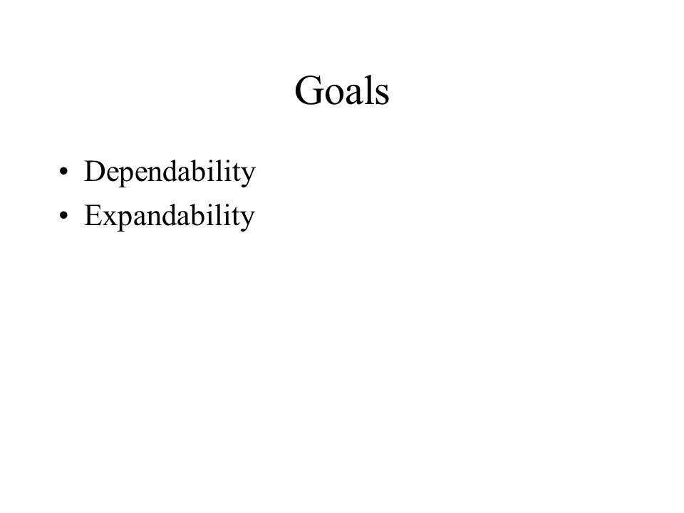 Goals Dependability Expandability