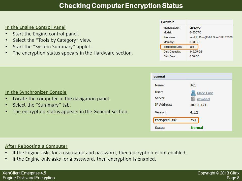 Encryption Setup and Passwords