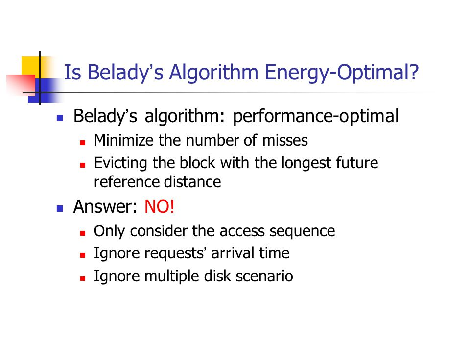 Is Belady s Algorithm Energy-Optimal.