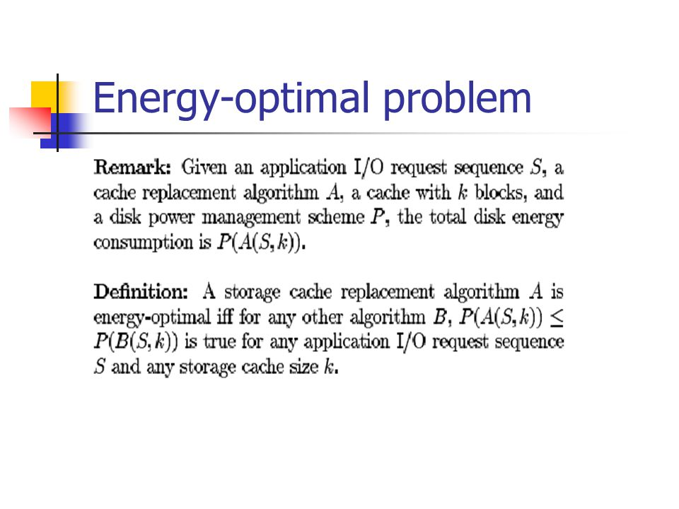 Energy-optimal problem