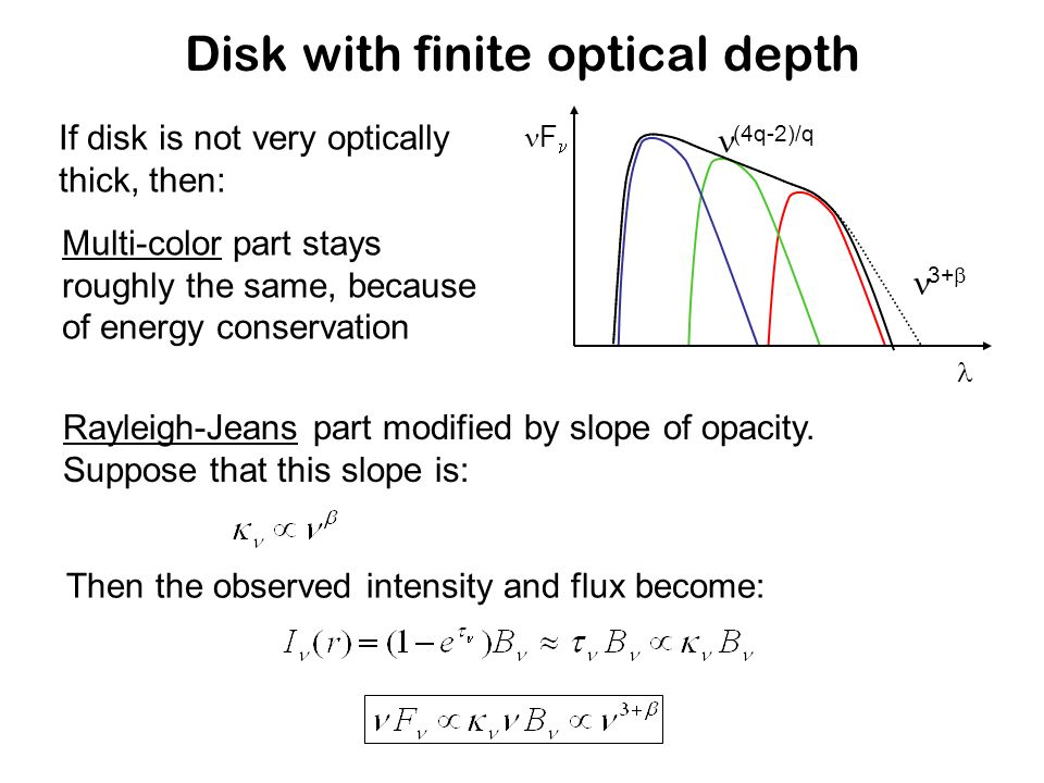 Probing larger grains in disks At (sub-)millimeter wavelength one can measure opacity slope (remember!).