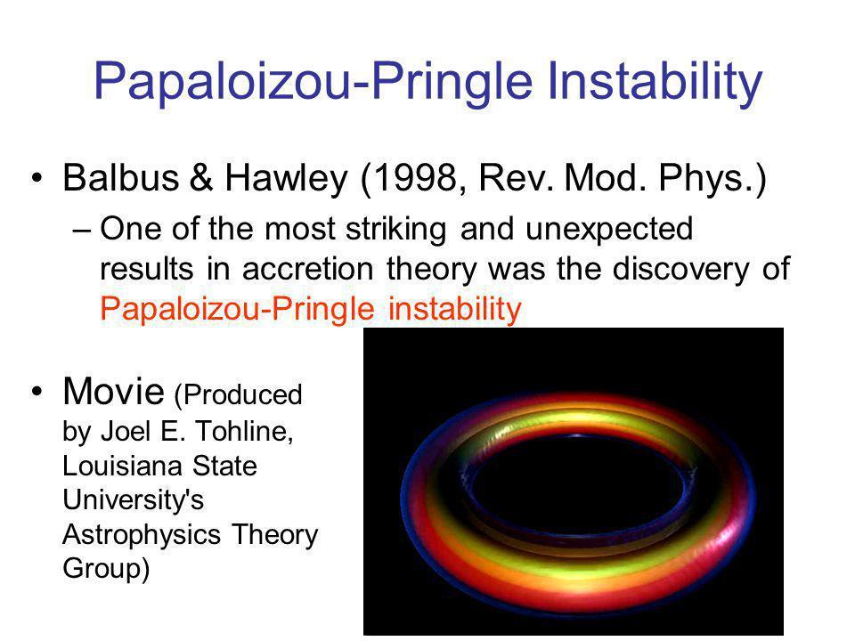 Papaloizou-Pringle Instability Movie (Produced by Joel E.
