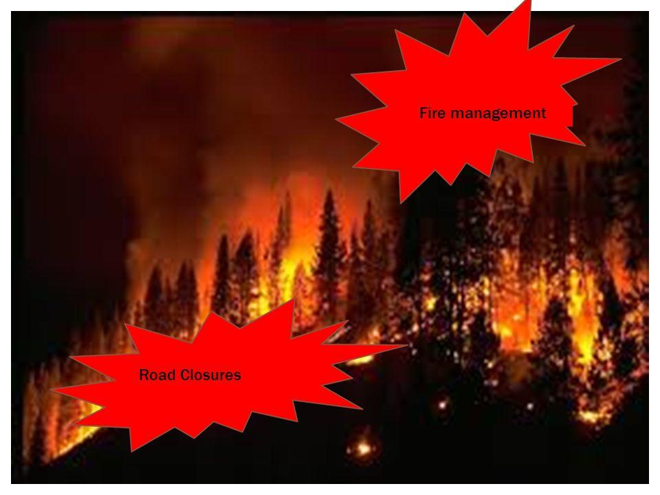 Fire management Evacuations Road Closures