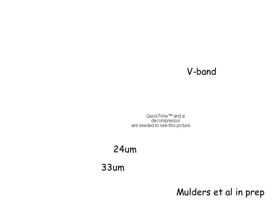 V-band 24um 33um Mulders et al in prep