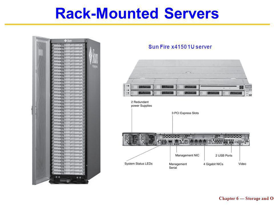 Chapter 6 Storage and Other I/O Topics 33 Rack-Mounted Servers Sun Fire x4150 1U server