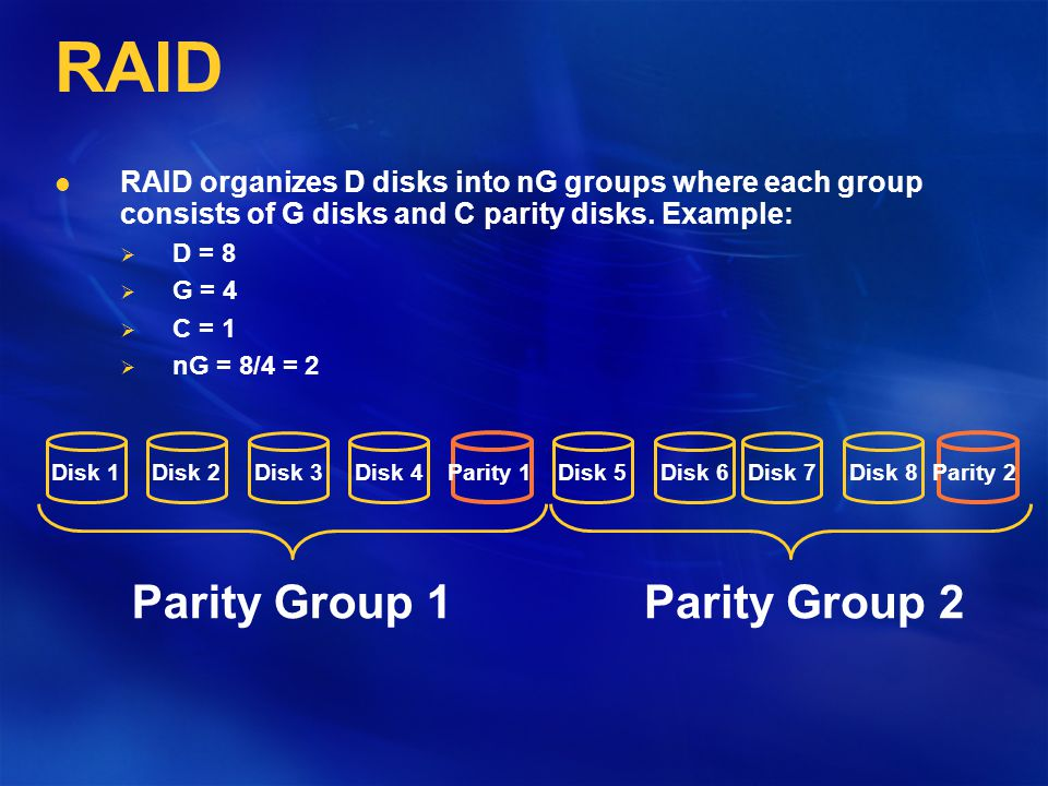 RAID 5: Resolve the Bottleneck Write of Blocks a and j may proceed in parallel now.