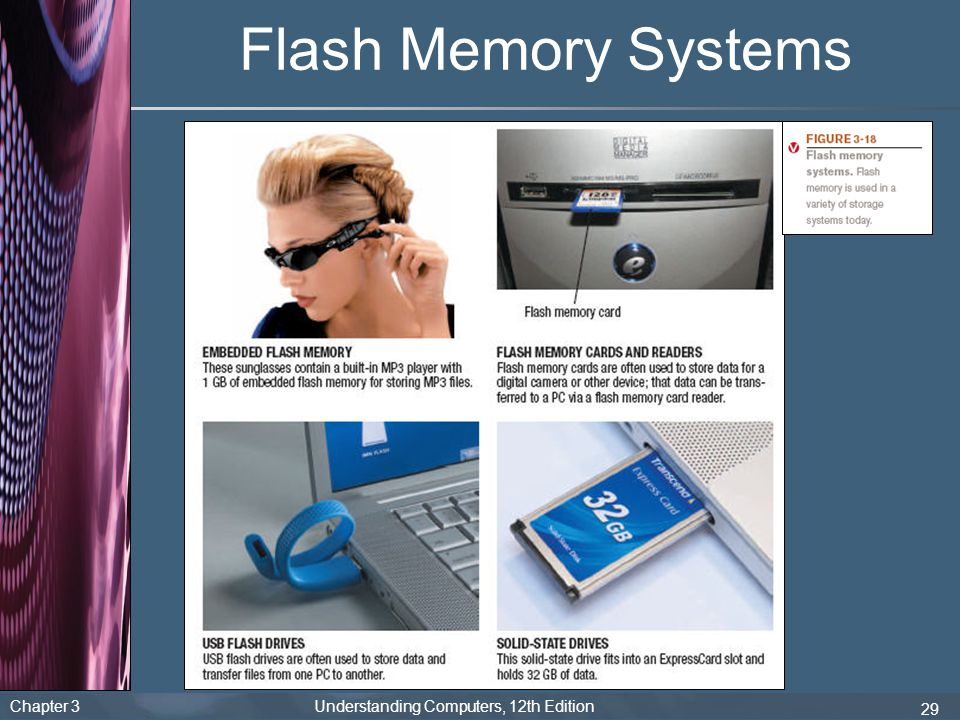Chapter 3 Understanding Computers, 12th Edition 29 Flash Memory Systems